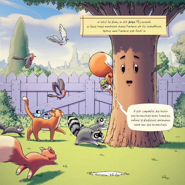 Les Casques Verts - L'arbre-au Grand Chagrin - Les arbres et animaux
