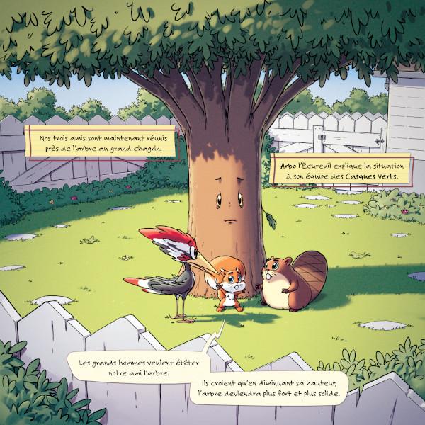 Les Casques Verts - L'arbre-au Grand Chagrin - Équipe au pied de l'arbre